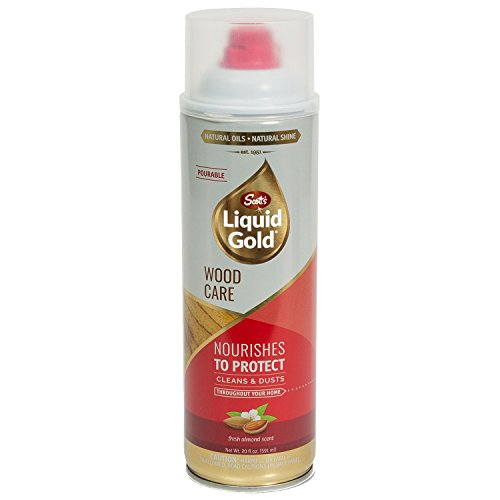 Natural Gold Cleaner - Scott's Liquid Gold Pourable Wood Cleaner & Preservative, 20 oz