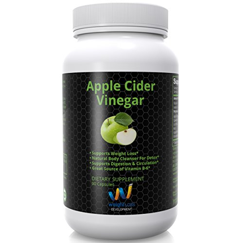 APPLE CIDER VINEGAR Pills Capsules - Natural Cleanse Digestive Detox Weight Loss Supplement - Burn Fat and Clean Your System at the Same Time - Remove Excess Water and Detoxify - 90 tablets