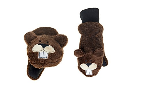 Beaver Fuzzy (FlapJackKids - Kids' Winter Mitts - Beaver Toddler/Youth)