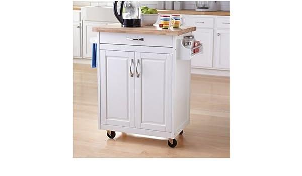 Mainstays cocina isla carro, color blanco: Amazon.es: Oficina y ...