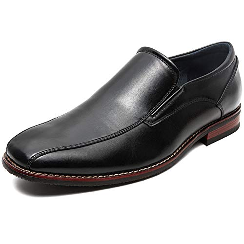 Black Square Toe Shoe - ZRIANG Men's Dress Loafers Formal Leather Lined Slip-on Shoes (10.5 M US, Black)