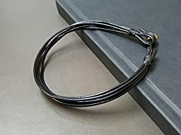 Hippie Black Leather Anklet