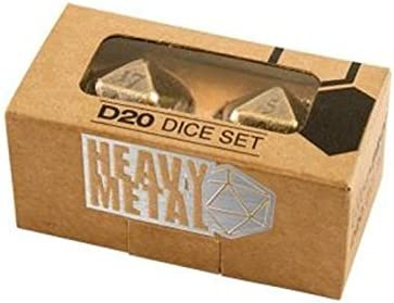 Ultra Pro Heavy Metal D20 2-Dice Set - Antique Bronze - Würfel: Amazon.es: Deportes y aire libre
