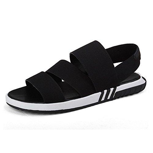 Sandals MAZHONG Summer Casual Men's Breathable Men's Open-toe Thick-soled Youth (Color : Black-EU42/UK8.5/CN43) Black- Eu40/Uk7/Cn41 7EOgjtWMFB