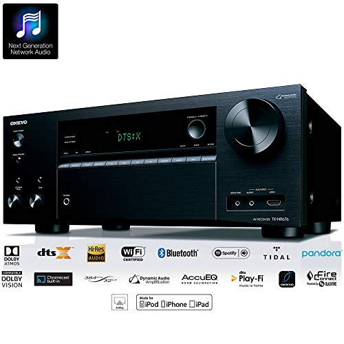 Receiver Onkyo TX-NR676 7.2ch 4K Wifi Bluetooth AirPlay Spotify Dolby Atmos DTS:X Zona 2 110v