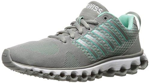 K-Swiss Women's x-180 Cross-Trainer Shoe, Neutral Gray/Cabbage, 6 M ()