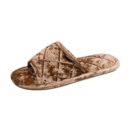 Appartements Four SHANGXIAN Confortable Respirant Brown Pantoufle Seasons Universal Pantoufle Brown Coton Vamp 42 43 Casual 0TWT5