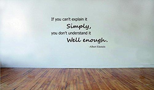 Decalgeek Einstein If Lettering Inspirational Uplifting