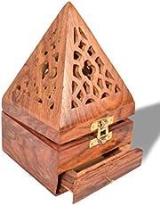 مبخرة خشبية مخروطية الشكل من الخشب الهندي