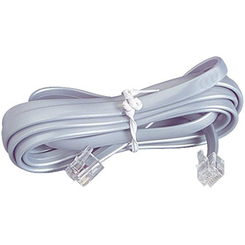 Parts Express Modular Line Cord 25 ft. Gray RJ11 4C by Parts Express