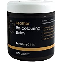 Leather Re-Coloring Balm – Renew and Restore Color to Faded and Scratched Leather | For Furniture, Cars and Clothing 8.5 Fl. Oz. (250ml) (Dark Brown)