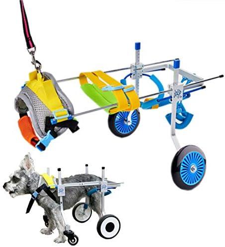 犬のスクーターのアップグレード、麻痺ペットの車椅子を使用しない調整、インストールは不要、ペットのリハビリトレーニング用の後脚の犬用サポートハーネス,XS widening
