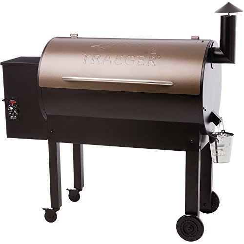 Traeger TFB65LZBC Grills Texas Elite 34 Wood Pellet Grill and Smoker - Grill, Smoke, Bake, Roast, Braise, and BBQ (Bronze) Cook Roast Bbq