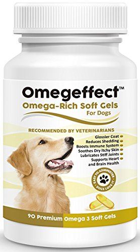 Oil 1000 Mg 90 Gels (100% Pure Omega 3 Fish Oil for Dogs 1000mg - Best Soft Gels For Skin, Coat & Joints. Reduces Scratching & Shedding. Wild Caught Fish, Better Source of DHA Than Alaskan Salmon. 90 Count)