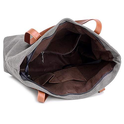 de Mode Seule mère Portable Sac à de épaule sur marron Couleur Toile Contrastante Sacs Main WEIZHE CxwTYXzq6