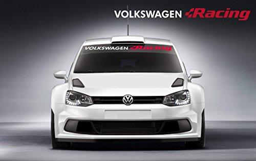 Racing Volkswagen - VW Volkswagen Racing Windscreen decal 950mm (white Ð red)