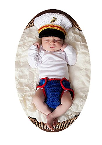 Baby Box Newborn Baby Photography Outfit Props Set,Navy