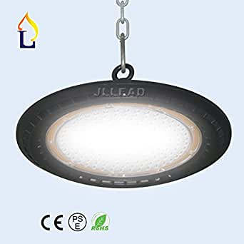 (5 PCS) LED 100W UFO LED High Bay Lighting REPLACE 300W Bulbs Equivalent, 13000lm, Waterproof, Daylight White,90 LENS Beam, Super Bright Commercial Lighting