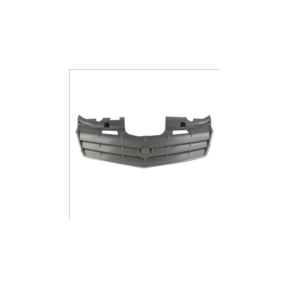 CarPartsDepot, Dark Gray Front Grille Grill Assembly Chrome Molding Plastic, 400 141644 GM1200612 15925771