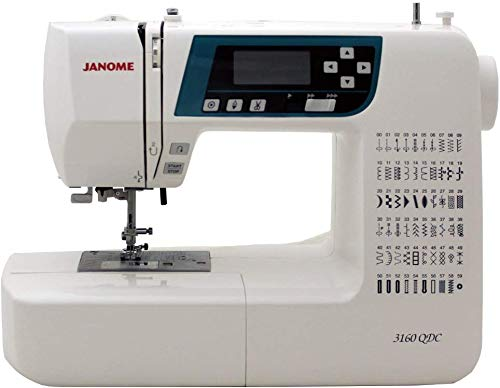 Janome 3160QDC Computerized Sewing Machine w/Hard Cover + Extension Table
