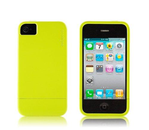 Prodigee 2 piece, Sleek, Protective & Hard Case, iPhone 4 - NEON YELLOW