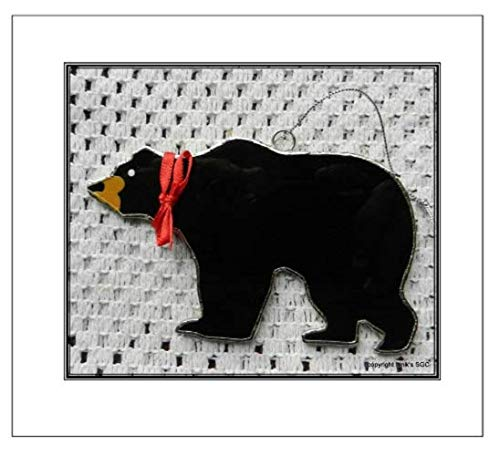 (Stained Glass Black Bear Sun)