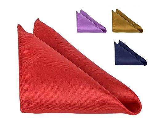 Pocket Square For Men 10x10 Solid Color Handkerchiefs Moda Di Raza