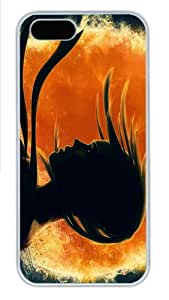 crazy cover girl shadow art PC White Case for iphone 5/5S
