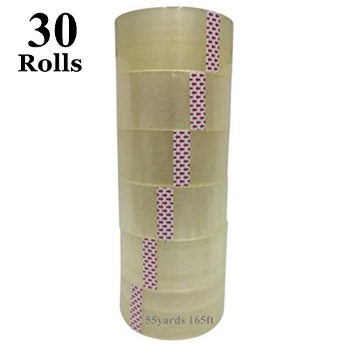 30 ROLLS CLEAR SHIPPING PACKING CARTON SEALING TAPE 2.0MIL 2