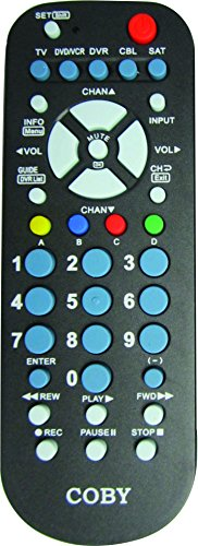 Coby CRC-01 5 in 1 Universal Remote (Element Universal Remote Tv)