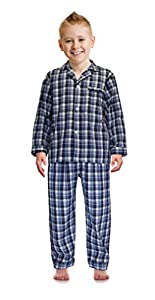 RK Classical Sleepwear Big Boys Broadcloth Woven Pajama Set,