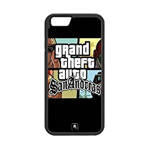 Gta Grand Theft Auto San Andreas Caracteres gráficos 15843 6 4.7 pulgadas del teléfono celular del iPhone funda Negro caja del teléfono celular Funda Cubierta EEECBCAAJ75079