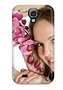 New Diy Design Girl In Tub With Flowers For Galaxy S4 Cases Comfortable For Lovers And Friends For Christmas Gifts