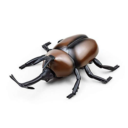 FairOnly Infrared Remote Control Beetle Shock Horror Gadget Antistress Joke Adult Kids Gift Halloween RC Toy Insect with Box -