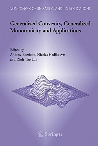 Generalized Convexity, Generalized Monotonicity and Applications: Proceedings of the 7th International Symposium on Generalized Convexity and ... (Nonconvex Optimization and Its Applications)