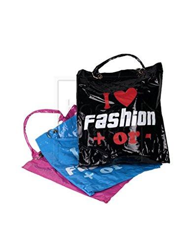 Tasche PVC mit Griffen - Rosa