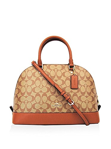 COACH Signature Sierra Satchel Handbag (Khaki/Saddle)
