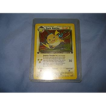 Pokemon Team Rocket 1st Edition Holographic Card #83/82 Dark Raichu