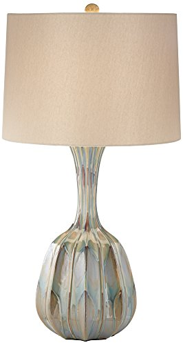 Bella Ribbed Gourd Ceramic Table Lamp (Ribbed Ceramic)