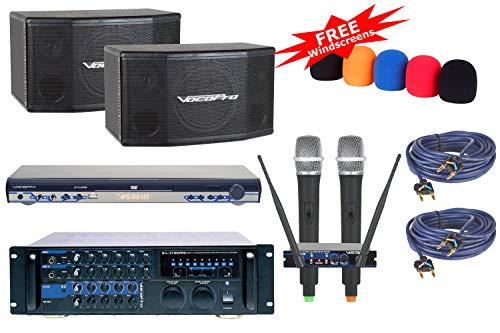 VocoPro Bundle Package-1 Home Karaoke - Speaker Dual Vocopro