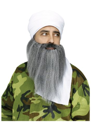 Arab Terrorist Costume (Fun World Adult Mens Turban + Beard Set)