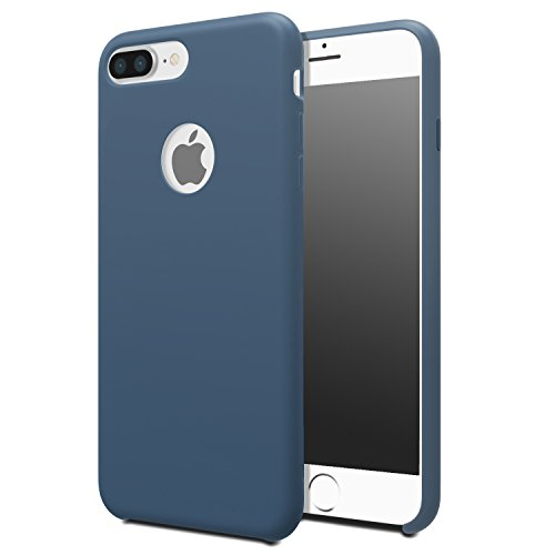 for iPhone 7 Plus Case - MoKo Slim Shockproof Liquid Silicone Gel Rubber Protective Case Soft Touch Back Cover for Apple iPhone 7 Plus 2016, Ocean Blue