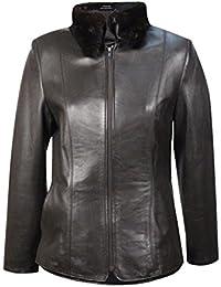 Amazon.com: Fur Factory Outlet - Leather & Faux Leather / Coats ...