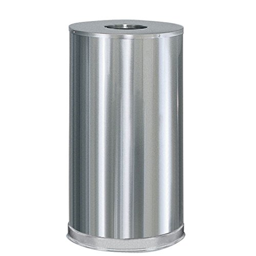 Rubbermaid Commercial Products FGCC16MCGL Metallic Series Refuse Container with Open Top (Mirror Chrome)
