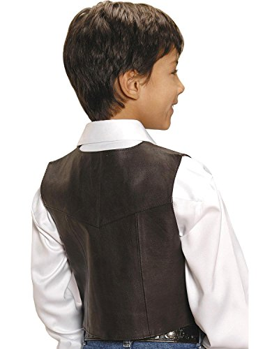 Roper Boys' Lambskin Leather Vest Brown Large by Roper (Image #2)