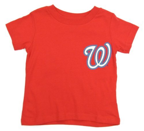 Majestic Bryce Harper Washington Nationals Red Youth Jersey Name and Number T-shirt Large ()
