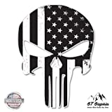 Punisher Skull Subdued American Flag Tactical - 20'' - Large Size Vinyl Sticker - for Truck Car Cornhole Board
