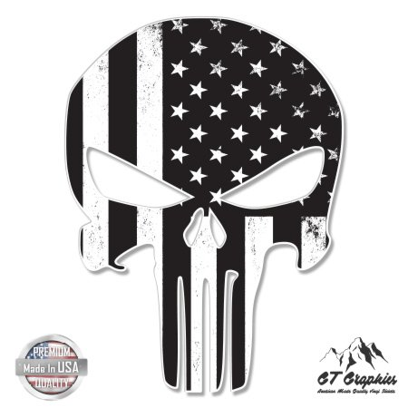 Branded American Flag (Punisher Skull Subdued American Flag Tactical - 3