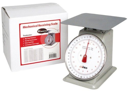 Winco SCAL-840 40-Pound/18.18kg Scale with 8-Inch Dial, Medium, White, Steel by Winco