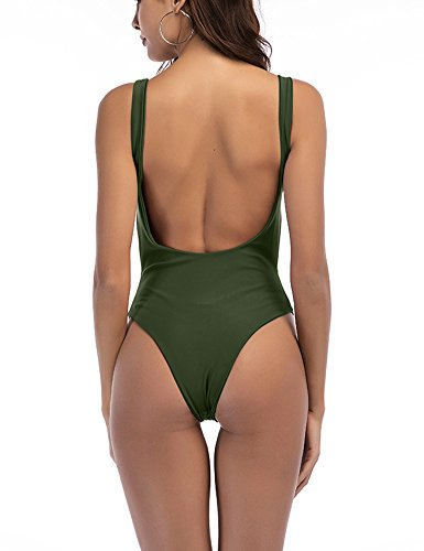 b0e459aad0972 Home Swimsuits Zaoqee Women's High Cut Backless Swimsuit Sexy Monokini  Thong One Piece Bathing Suit. 47% Off